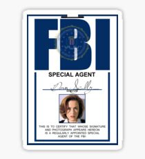 dana scully badge Sticker