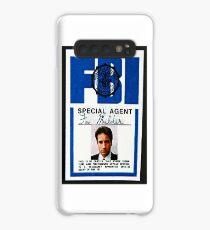 fox mulder badge Case/Skin for Samsung Galaxy