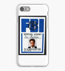 fox mulder badge iPhone Case/Skin