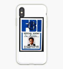 fox mulder badge iPhone Case