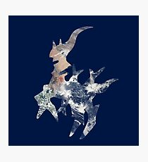 Arceus Earth Silhouette Photographic Print
