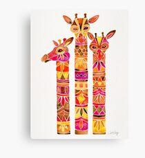 Giraffes – Fiery Palette Canvas Print