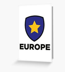 The Union Flag of Europe Greeting Card
