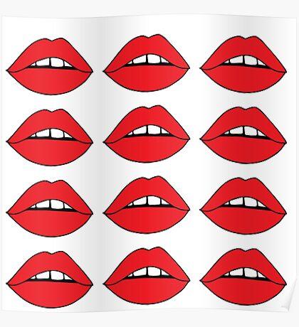 Rote Lippen Poster