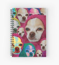 the doggo is become the worm and the worm is become the doggo Spiral Notebook