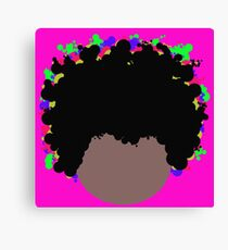 Psychedelic Dope Afro  Canvas Print