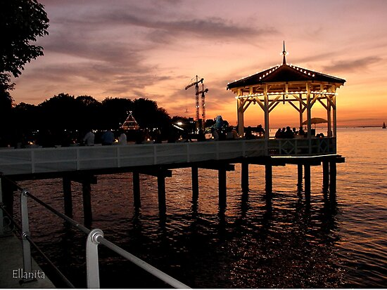 Sunset over Lake Constance-Bodensee by Ellanita