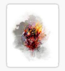 color bleeding heart Sticker
