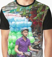 Scooter Transporting Balls Vietnam Graphic T-Shirt