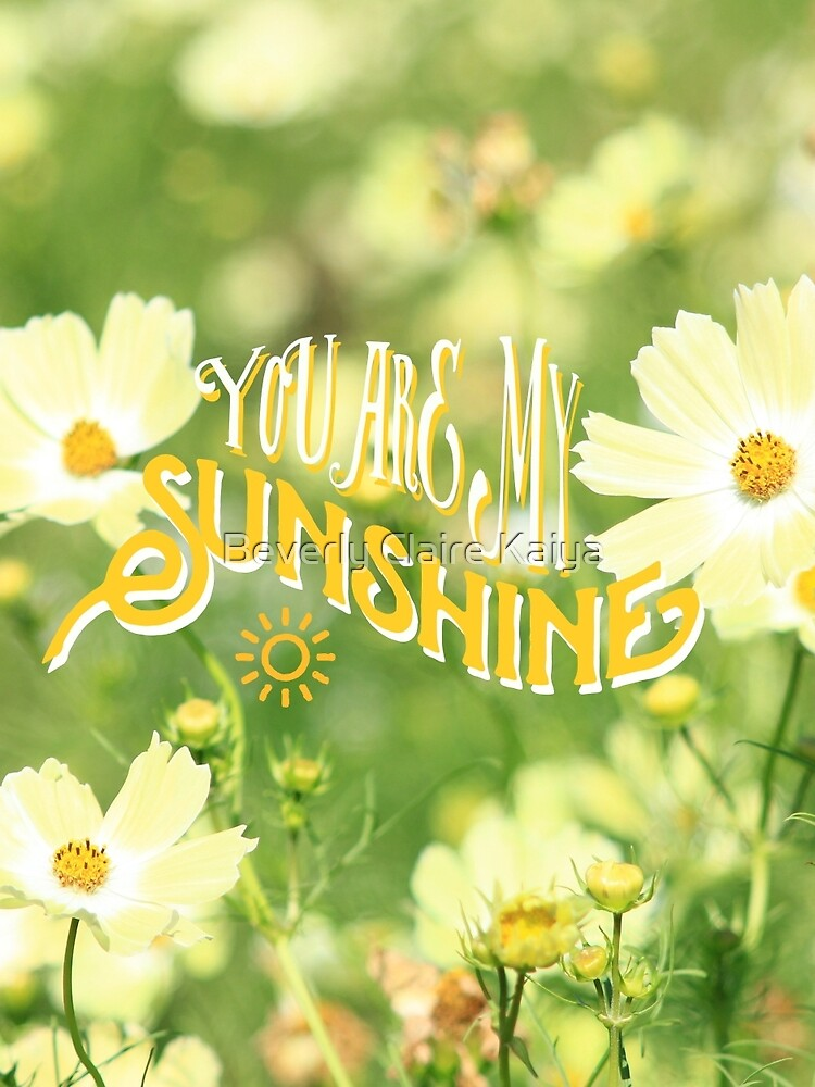You Are My Sunshine Pretty Yellow Cosmos Flowers by beverlyclaire