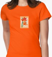 Birthday Wishes - Parrot Tulips Women's Fitted T-Shirt