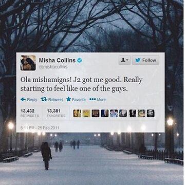 Misha Tweet  by spnlockscreenz