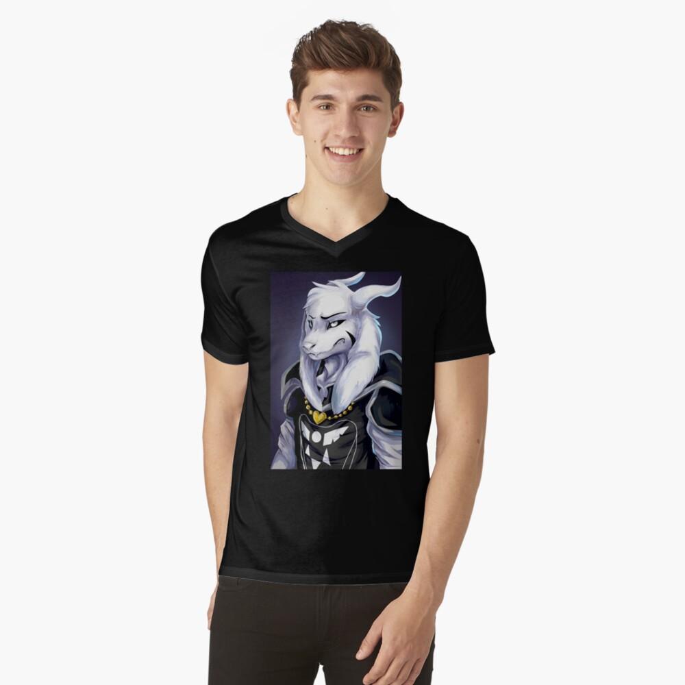 Undertale - Asriel Dreemurr T-Shirt mit V-Ausschnitt