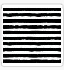 Vector Brush Strokes Black White Pattern Sticker