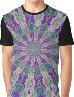 Totem Kaleidoscope In Purple Red and Jade Graphic T-Shirt