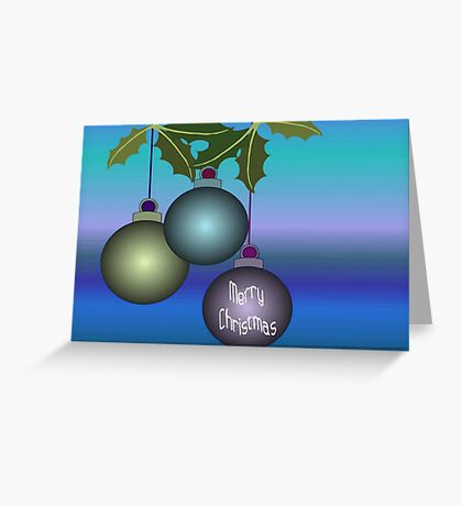 Merry Christmas Tree Ornaments Greeting Card