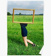 Surrealistic picture frame Poster