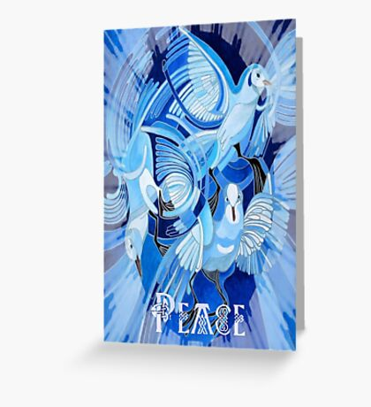 Celtic Peace Dove Greeting Greeting Card
