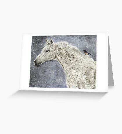 Winter Rider Greeting Card