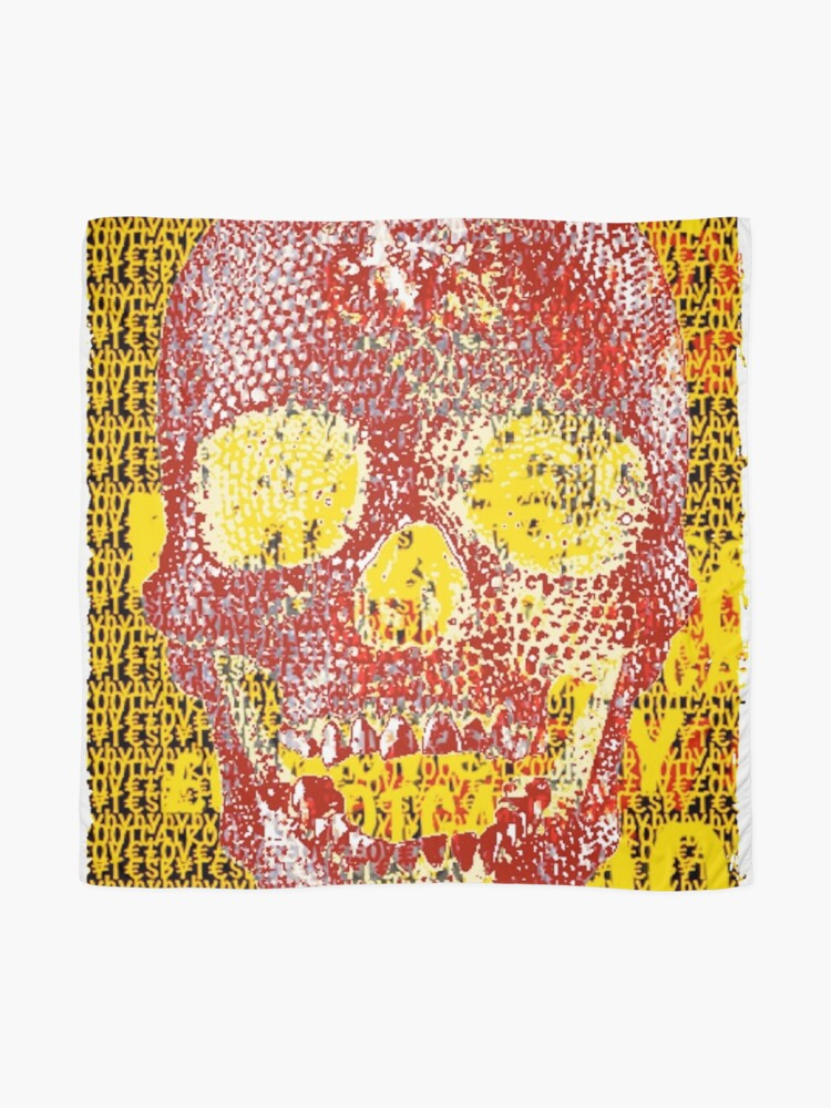 Alternate view of pixilated skull 002 by #RootCat Scarf
