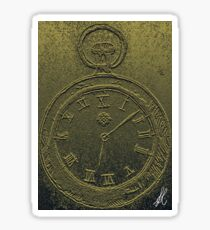 Ancient Pocket Watch Sticker