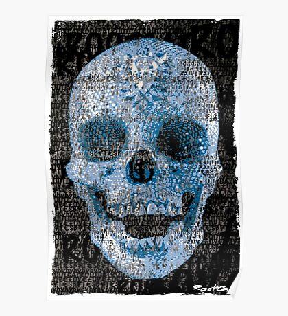 pixilated skull 004 by #RootCat Poster