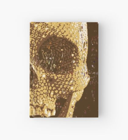 pixilated skull 006 by #RootCat Hardcover Journal