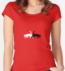 Twain Cats Women's Fitted Scoop T-Shirt