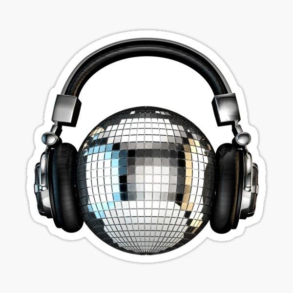 Headphone disco ball Sticker