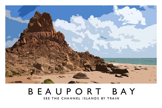 Beauport Bay (Railway Poster) by Andrew Roland