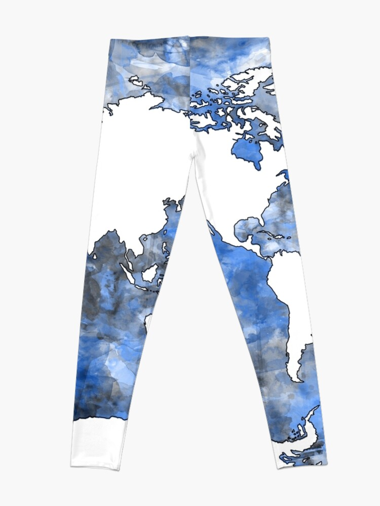 Alternative Ansicht von Weltkarte Aquarell 7 Leggings