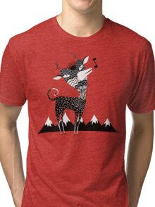 Singing Deer of the Shaggy Mountains Tri-blend T-Shirt