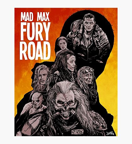 Mad Max Fury Road Fiery Edition Photographic Print