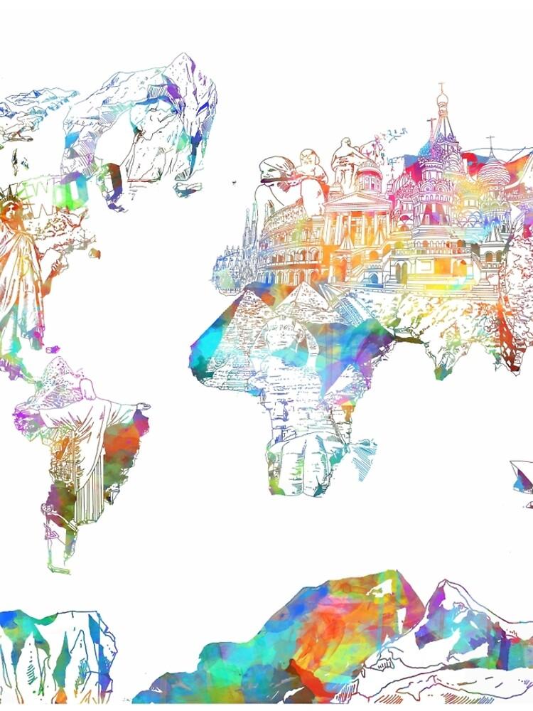 Weltkartencollage 4 von BekimART