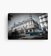 Havana Street Scene, Cuba. Canvas Print
