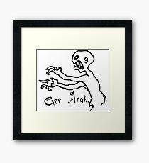grr argh Framed Print