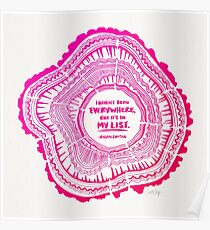 My List – Pink Ombré Ink Poster