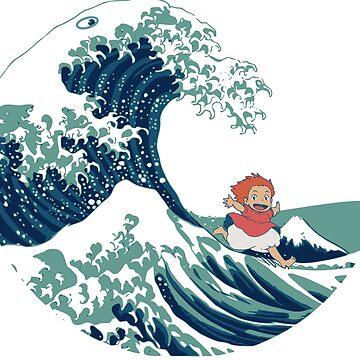 Ponyo and The Great Wave off Kanagawa - Moderne by KokoBlacsquare