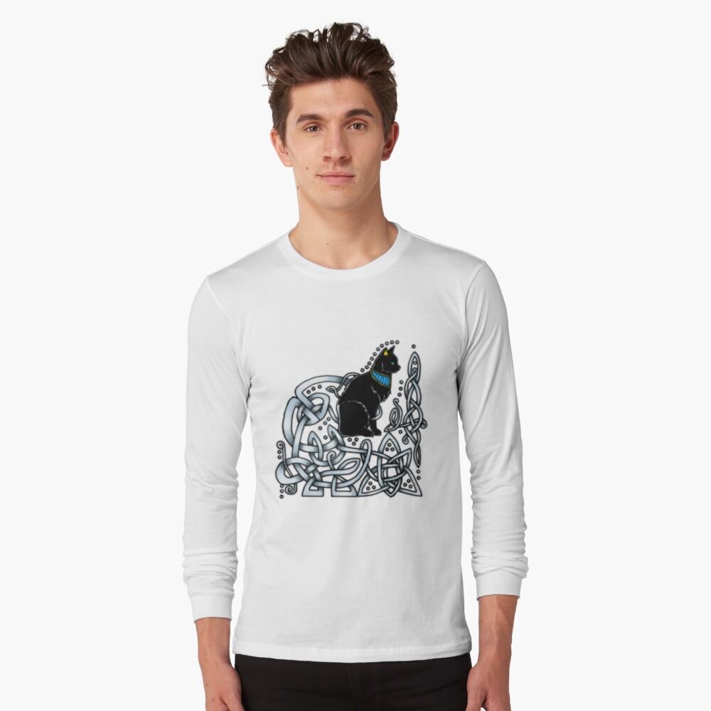 Celtic/Egyptian Cat Long Sleeve T-Shirt