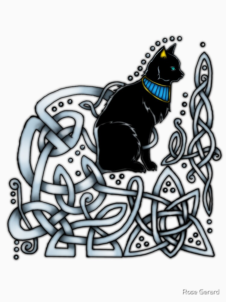 Celtic/Egyptian Cat by arkadyrose