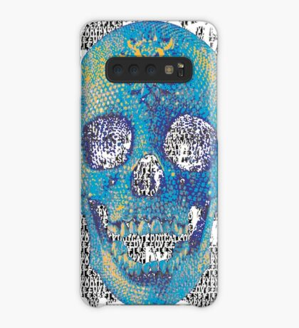 pixilated skull 013 by #RootCat Case/Skin for Samsung Galaxy