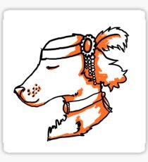 doggy flapper Sticker