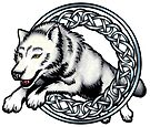 Celtic Wolf by Rose Gerard