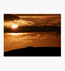 Grianian of Aileach Sunset ,Donegal, Ireland  Photographic Print