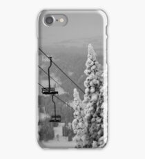 Snowy Trees & Ski Chairs iPhone Case/Skin