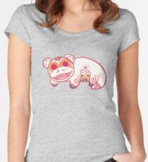 Slowpoke Pokemuerto | Pokemon & Day of The Dead Mashup Women's Fitted Scoop T-Shirt