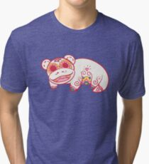 Slowpoke Pokemuerto | Pokemon & Day of The Dead Mashup Tri-blend T-Shirt
