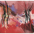 Calligraphy, abstract expressionism by Wilfried van Dokkumburg