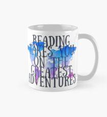 Das Lesen bringt dich auf die größten Abenteuer Tasse (Standard)