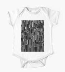 Tall city B&W inverted One Piece - Short Sleeve